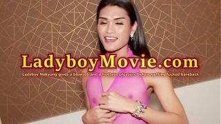 Ladyboy Nokyung Blowjob and Frottage Pleasure