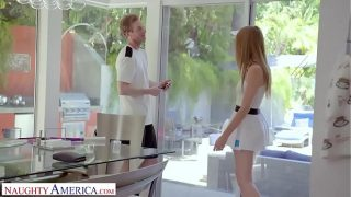 Naughty America – Tennis instructor gets lucky and fucks his client, Ashley Lane