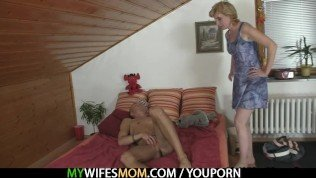 She rides her daughter's BF cock
